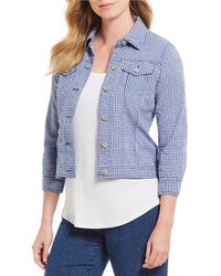 Ruby Rd. - Petite Size Stretch Seersucker Gingham Jacket - Lyst
