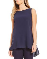 Eileen Fisher - Bateau Neck Long Shell - Lyst