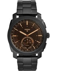 Fossil - Q Hybrid Smartwatch - Q Machine Black Stainless Steel - Lyst