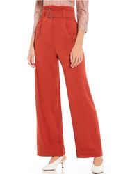 Sugarlips - High Waist Belted Wide Leg Paperbag Pant - Lyst