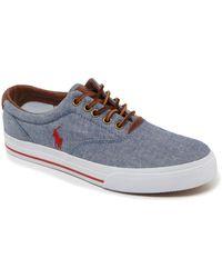Polo Ralph Lauren - Vaughn Chambray Sneakers - Lyst