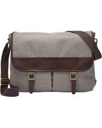 Fossil - Buckner Fabric Laptop Messenger Bag - Lyst