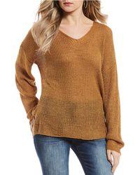 Blu Pepper - Lace Up Back Sweater - Lyst
