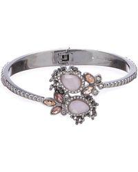 Jenny Packham - Stone Hinge Cuff Bracelet - Lyst
