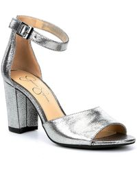 Jessica Simpson - Sherron Ankle Strap Block Heel Sandals - Lyst