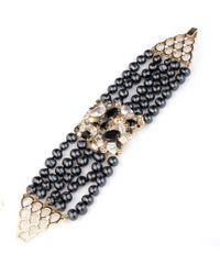 Carolee - Multi Row Fresh Water Pearl Bracelet - Lyst