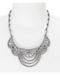 Belle By Badgley Mischka - Pave Fan Collar Necklace - Lyst