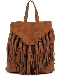 5dacd5cd93 Lyst - Pixie Market Black Fringe Bucket Backpack in Black