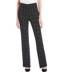 Kasper - Petite Size Stretch Crepe Windowpane Plaid Straight Pant - Lyst