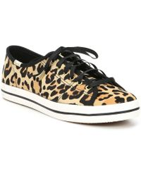 f27cd3471a6f Lyst - Kate Spade Leonie Floral Embroidery Design Sneakers in Black