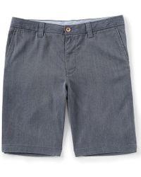 Tommy Bahama - Havana Herringbone Flat-front 10 12 Inseam Shorts - Lyst