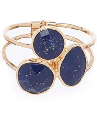 Dillard's - Glitter Three Stone Hinge Bracelet - Lyst