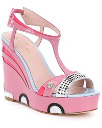 Kate Spade - Deanna Cadilla Patent Leather Car Wedge Sandals - Lyst