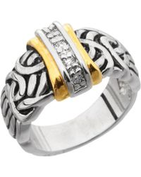 Dillard's - Boxed Collection Cubic Zirconia Antiqued Band Ring - Lyst