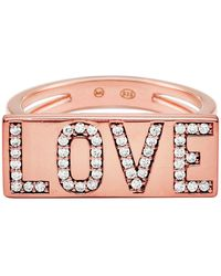 6a3c433ddc06 Lyst - Michael Kors Park Avenue Glam Banded - Wide Ring in Pink