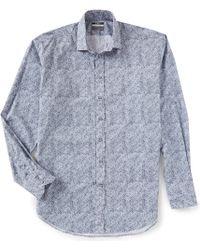 525749b810 Thomas Dean - Big & Tall Geo Print Long-sleeve Woven Shirt - Lyst
