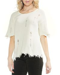 Vince Camuto - Distressed Knit Top - Lyst