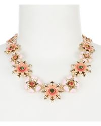 Anne Klein - Coral Flower Collar Necklace - Lyst