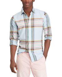Polo Ralph Lauren - Big & Tall Madras Long-sleeve Woven Shirt - Lyst
