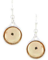 Dillard's - Two Tone Drop Earrings - Lyst
