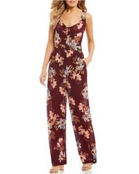 Patrons Of Peace - Sleeveless Floral Jumpsuit - Lyst