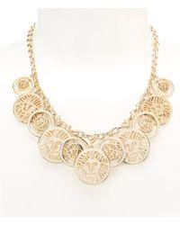 Anne Klein - Shaky Lion Coin Necklace - Lyst