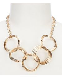 Dillard's - Multi Link Ring Frontal Necklace - Lyst