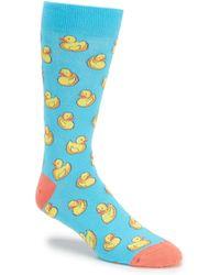 K. Bell - Novelty Rubber Duck Crew Socks - Lyst