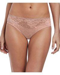 7d9650e5ae6c7 Lyst - Wacoal Embrace Lace Hi-cut Brief in Gray