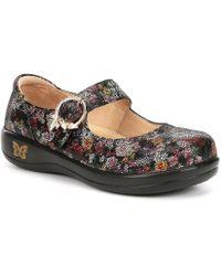 Alegria - Kourtney Leather Floral Print Mary Janes - Lyst