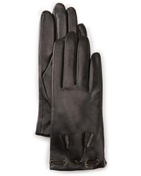 Fownes - Tasseled Cashmere-lined Leather Tech Gloves - Lyst
