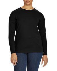 Lauren by Ralph Lauren - Plus Long-sleeve Stretch Cotton T-shirt - Lyst