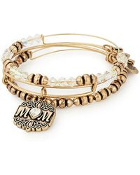 ALEX AND ANI - Mom Set Of 3 Charm Bracelets - Lyst