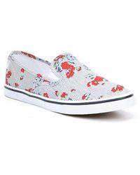 Lauren by Ralph Lauren - Janis Floral Printed Slip-on Sneakers - Lyst