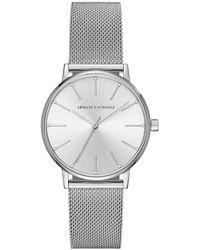 Armani Exchange - Ax Analog Mesh Bracelet Watch - Lyst
