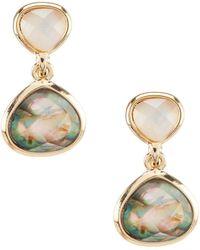 Anne Klein - Drop Clip Earrings - Lyst