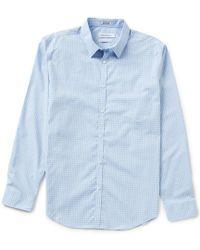 Calvin Klein | Slim-fit Block Check Long-sleeve Woven Shirt | Lyst