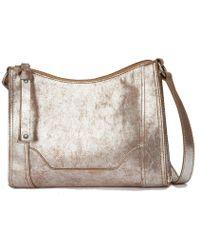 Frye - Melissa Metallic Zip Cross-body Bag - Lyst