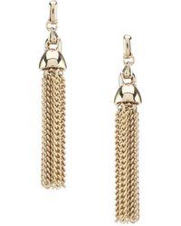 Lauren by Ralph Lauren - Tassel Chain Linear Earrings - Lyst