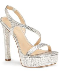 Vince Camuto - Imagine Prent Metallic Leather Strappy Dress Sandals - Lyst