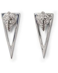 Vince Camuto - Pav Crystal Pyramid Front/back Earrings - Lyst