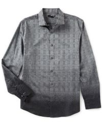 Murano - Slim-fit Ombre Jacquard Long-sleeve Woven Shirt - Lyst