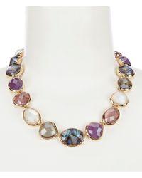 Anne Klein - Multi Stone Collar Necklace - Lyst