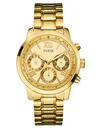 Guess - Multifunction Goldtone Stainless Steel Watch - Lyst