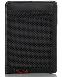 840913b249c1 Tumi Monaco Leather Money Clip Card Case in Black for Men - Lyst