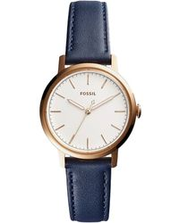 Fossil - Neely Analog Leather-strap Watch - Lyst