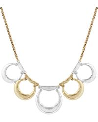 Lucky Brand - Two Tone Hammered Metal Collar Necklace - Lyst
