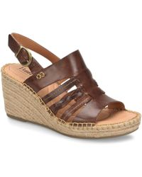2d79b629853d Born - Payson Leather Espadrille Wrapped Wedge Sandals - Lyst