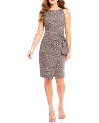 Antonio Melani - Made With Liberty Fabrics Peach Pincher Wilco Dress - Lyst