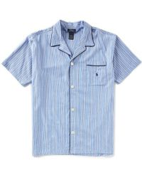 Polo Ralph Lauren - Thomas Stripe Woven Pajama Top - Lyst